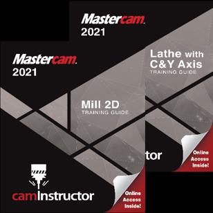 Mastercam 2021 - Mill 2D & Lathe Combo